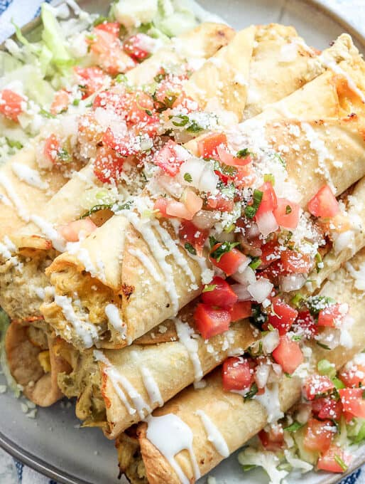 Air Fryer Taquitos with Chicken