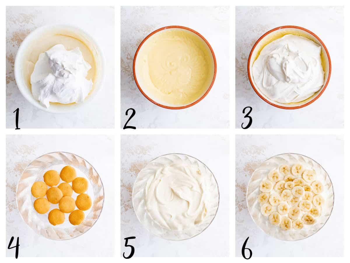 steps for making banana pudding