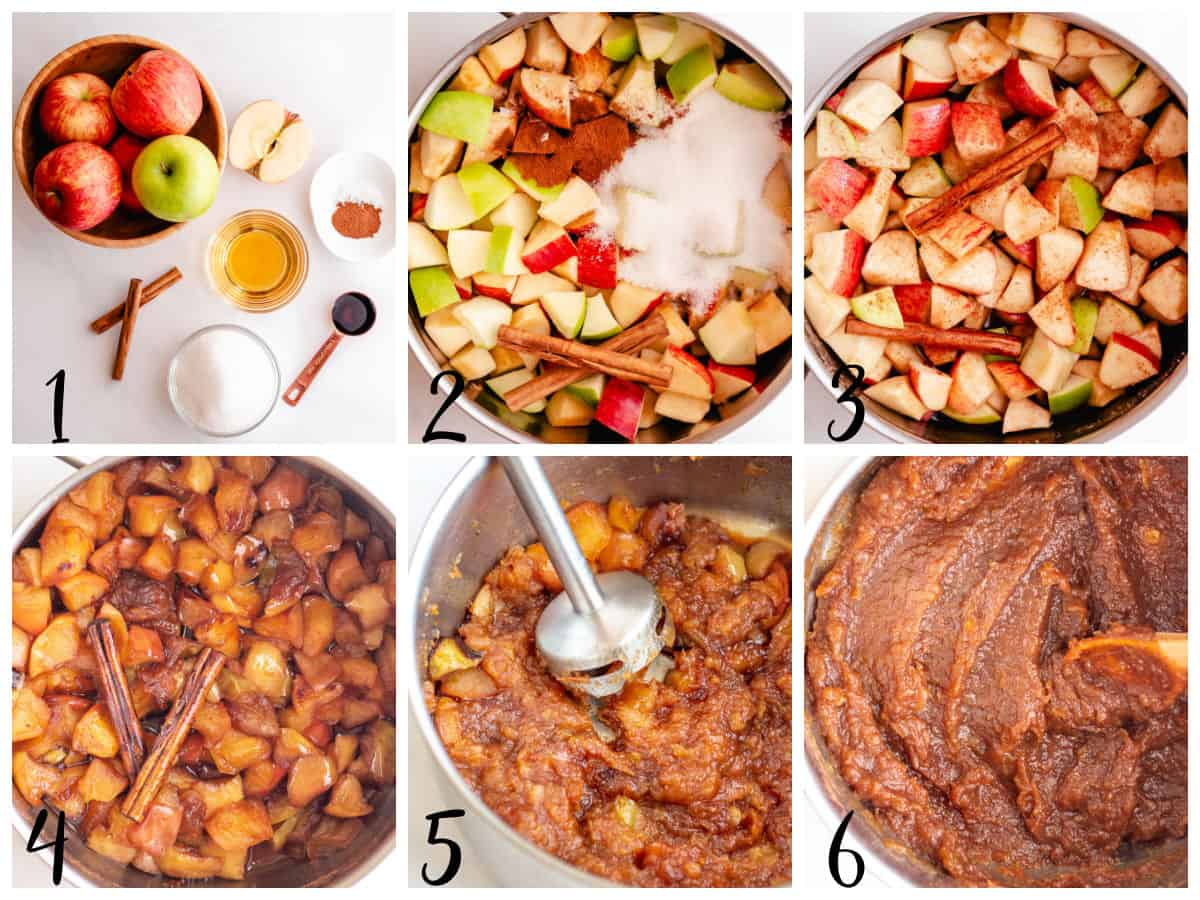 steps for how to make apple butter