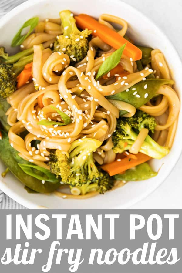 a bowl of veggies and rice noodles