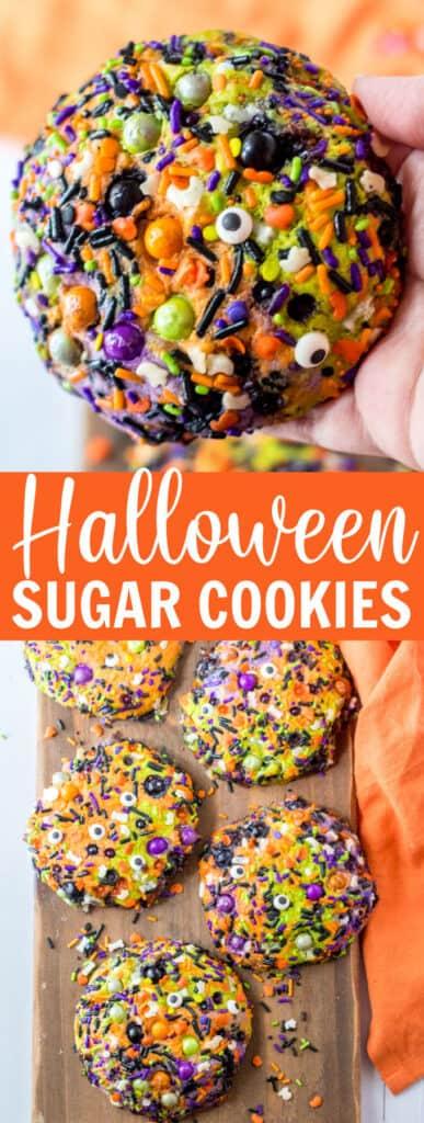 Halloween cookies with colorful sprinkles