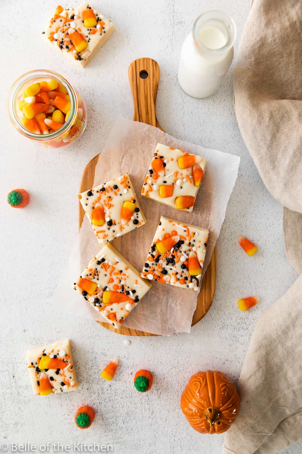 microwave fudge with candy corn