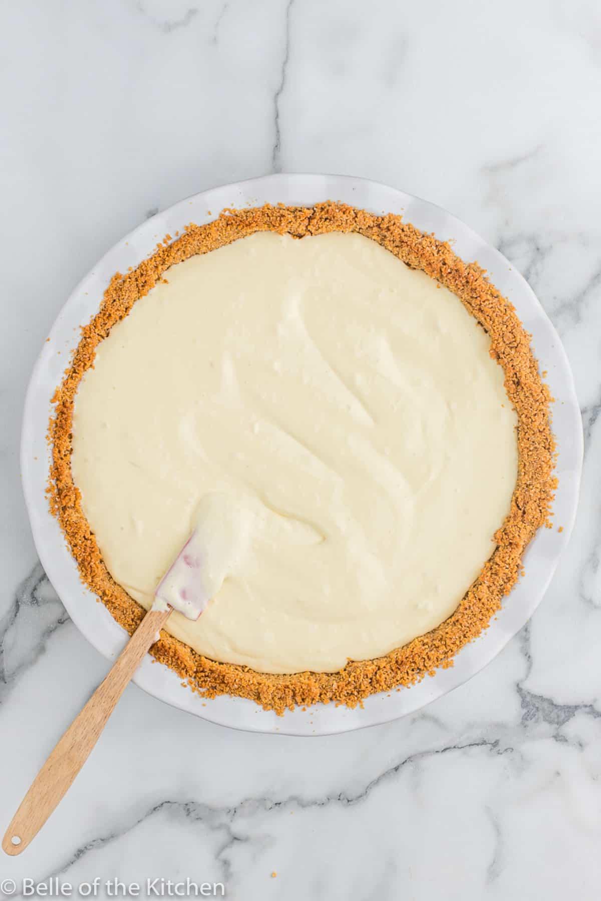 batter in a pie crust